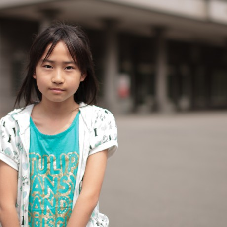 2011 - A young survivor of Futaba, Fukushima. Her home is irradiated and soon she would leave this evacuation center and be separated from her parents because people don't want to take on Fukushima survivors as tenants.