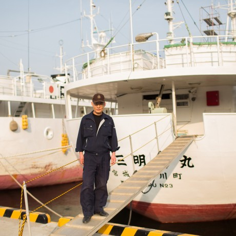 2014 - He ran for his life and survived the tsunami. Today he is helping launch a new tuna vessel for the damaged fleet.